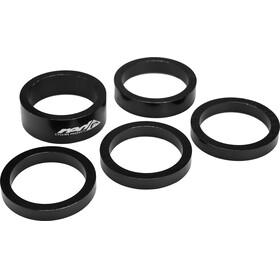 Red Cycling Products - Set entretoises en alu 5 pièces noir